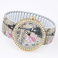 Women's Fashion Casual Stretch Quartz Eiffel Tower Bracelet Watch Cool Watches Unique Watches