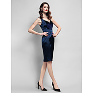 TS Couture® Cocktail Party Dress Plus Size / Petite Sheath / Column Straps Knee-length Velvet / Stretch Satin with Pockets