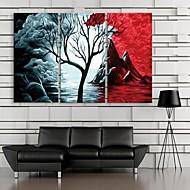 e-Home® venytetty kankaalle taidetta vuori ja puut sisustusmaalaus sarja 3