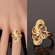 טבעות חתונה / Party / יומי / קזו'אל / ספורט תכשיטים סגסוגת / ציפוי זהב נשים טבעות רצועה 1pc מוזהב