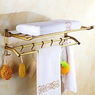 Bathroom Shelf Antique Copper Wall Mounted 600*250*80mm(23.62*9.84*3.14inch) Brass Antique