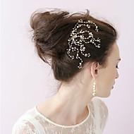 Parel/Bergkristal/Kristallen Vrouwen Helm Bruiloft/Speciale gelegenheden Haarkammen/Bloemen Bruiloft/Speciale gelegenheden