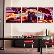 E-HOME® Stretched Canvas Art  Abstract Landscape Decoration Painting Set of 3
