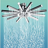 8.7 inch Swivel Joint Cloudburst Star Shower Head  with Brass and Mirror Chrome