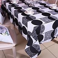 géométrique noir nappe imprimée