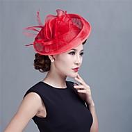 vrouwen bruiloft sinamay veer bruids Fascinators hoeden