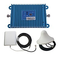 intelligentie dual-band GSM / DCS 900 / 1800MHz mobiele telefoon signaal versterker + outdoor panel antenne kit