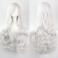 cosplay moda bianco must-have parrucca di capelli ragazza di alta qualità capelli ricci