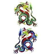 Tatuajes Adhesivos - Modelo/Parte Lumbar/Waterproof - Series de Animal - Mujer/Adulto/Juventud - Multicolor - Papel - 1 - 18.5*8.5cm