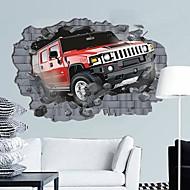 Environmental 3D Car Break Through The Wall Designed Wall Sticker