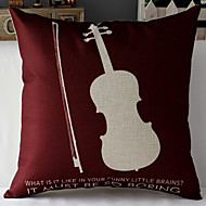 Modern Style Sherlock's Violin Patterned Cotton/Linen Decorative Pillow Cover