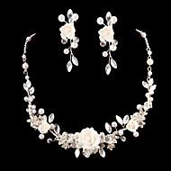 Women's Cubic Zirconia/Alloy Wedding/Party Jewelry Set With