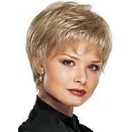 Europese en Amerikaanse mode dame natuurlijke gebogen kort blond haar