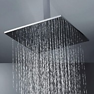 "16"" High Quality Fashion 304 Stainless Steel Wire Drawing Processing Square Shower Head - Silver"