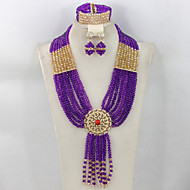 2015 African Wedding Jewelry Set Nigerian Beads Bridal Jewelry Set 2015 Fashion Women Jewelry Set