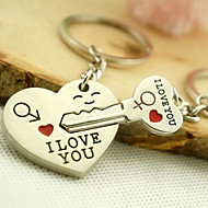 Romantic Wedding Key Ring Keychain for Lover Valentine's Day(One Pair)