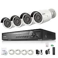 annke® 4ch poe NVR 4 hd 720p 1.0mp ONVIF utomhus bullet IP-kameror, qr-kod skanning, HDMI-utgång (ingen HDD)