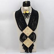 Hot Fashion Wedding Bridal Jewelry Set African Crystal Beads Necklace Bracelet Earrings Set AC031