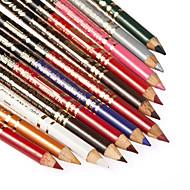 12Pcs Make Up Pen Eye Liner Eyeliner Eyebrow Pencil with Sharpener Lid