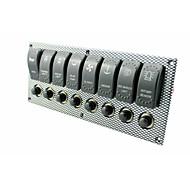 vodootporan brodski čamac rocker switch panel prijenosa 8 bande vode LED svjetla pokazivača baterije