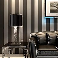 Contemporary Wallpaper Stripe Wall Covering Non-woven Paper Wall Art