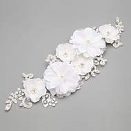 Women's / Flower Girl's Lace / Crystal / Imitation Pearl Headpiece-Wedding / Special Occasion Flowers White