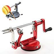 3 en 1 fruta máquina corer pelador de papas manzana cortador de la máquina de cortar