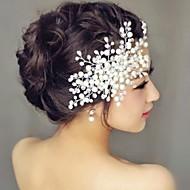 נשים פנינה כיסוי ראש-חתונה מסרקי שיער