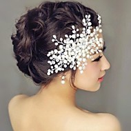 Mulheres Pérola Capacete-Casamento Pentes de Cabelo