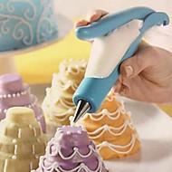 kake dekorert med penn enhet fondant pistol krem dekorasjon matlaging verktøy