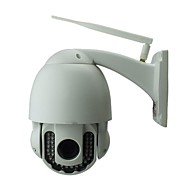 PTZ utendørs ip kamera 720p nattsyn IR-kutt gratis p2p wirelese