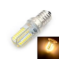 6W E14 LED kukorica izzók T 64 SMD 3014 500-600 lm Meleg fehér AC 220-240 V 1 db.