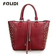 Falidi Women'S Fashion Rivet Fringed Handbag Large Bag Messenger