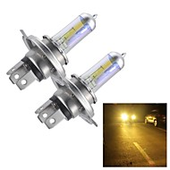 H4 55W Super Yellow HID Xenon Halogen Bulb Headlight for Cars (DC 12V/ pair)