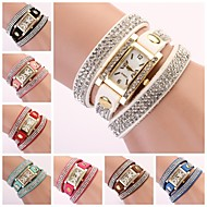 Women's Watch Rectangular Diamond Dial Rhinestone Band Cool Watches Unique Watches Fashion Watch