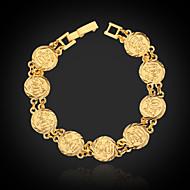 u7® plaqué 18k or véritable chunky musulman allah Bracelet cadeau de bijoux islamique pour les femmes les hommes 19cm