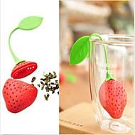 ny silisium jordbær utforming te blad sil