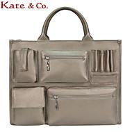 Kate@Co.® Women's Gold Pvc Big Capacity MultifunctionalHandbag(14 Inch)