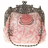 Belsen Vintage Wedding Beaded Sequin Rose Evening Bag