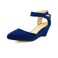 Women's Shoes Wedge Heel Pointed Toe Sandals with Magic Tape Shoes Dress More Colors available
