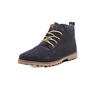Men's Spring / Summer / Fall / Winter Combat Boots / Round Toe / Closed Toe Leather Casual Flat Heel Lace-up Black / Blue / Yellow