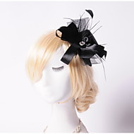 Fleurs/Chapeau Casque Mariage/Occasion spéciale/Outdoor Plume/Strass/Tulle Femme Mariage/Occasion spéciale/Outdoor 1 Pièce