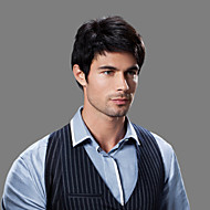 Top Grade Capless Quality Human Hair Men's Wigs 4 Colors to Choose