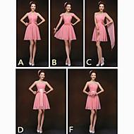 Mix & Match Dresses Short/Mini Chiffon 5 Styles Bridesmaid Dresses (2839951)