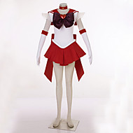 Inspired by Sailor Moon Sailor Uranus Video Game Cosplay Costumes Cosplay Suits Patchwork Red Dress / Headpiece / Headband / Gloves / Bow