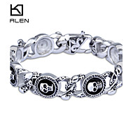 Kalen 2015 Men's Jewelry New Custom Fashion Casting Skull Charm Bracelet