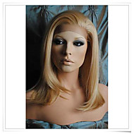 """Blonde 8inch-22inch 100% Virgin Human Hair Natural Straight Lace Wigs LWG001 Photo Color #27/613 Length 14"""""""