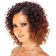 mujeres brasileñas de color de pelo virgen (# 1 # 1b # 2 # 4) pelucas delanteras del cordón del pelo rizado