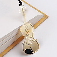 Violin Shaped Stainless Steel Bookmark