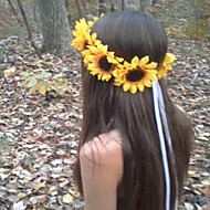 Sunflower Crown, Big Sunflower Headband  Sunflower Halo, Sunflower Hair wreath, Sunflower Headpiece, Fall Flower crow